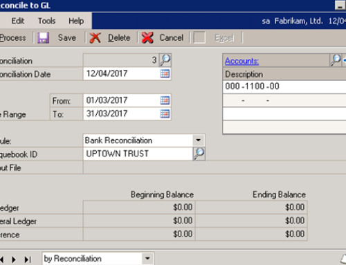 Creating GL Transactions within the Reconcile window